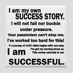 Success Story Tile Coaster