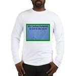 My Carbon Footprint Is Lost i Long Sleeve T-Shirt