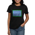 My Carbon Footprint Is Lost i Women's Dark T-Shirt