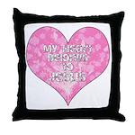 My Heart Belongs to Jesus Throw Pillow