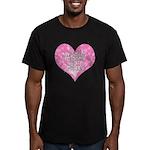 My Heart Belongs to Jesus Men's Fitted T-Shirt (da