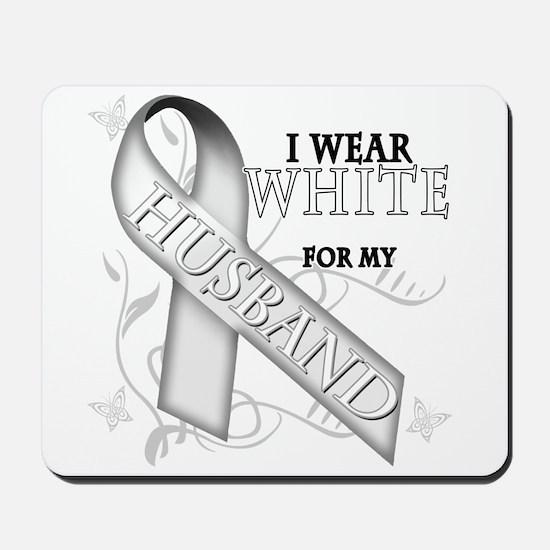 I Wear White for my Husband Mousepad