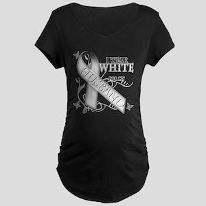 I Wear White for my Husband Maternity Dark T-Shirt