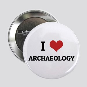 I Love Archaeology Button