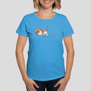 Basset Hound Places Women's Dark T-Shirt