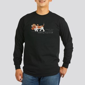 Basset Hound Places Long Sleeve Dark T-Shirt