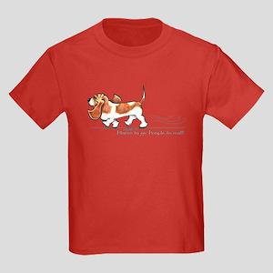 Basset Hound Places Kids Dark T-Shirt
