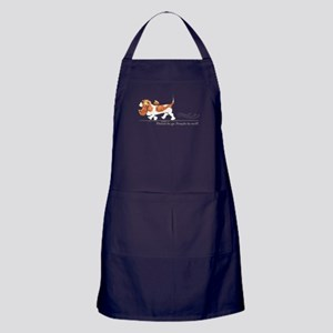 Basset Hound Places Apron (dark)