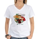 Love My Logger - Redhead Women's V-Neck T-Shirt