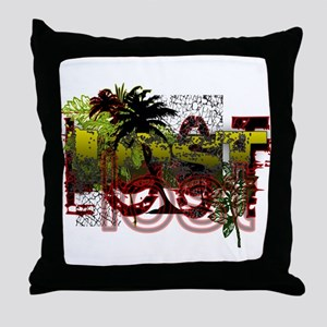 Lost Jungle Grunge Throw Pillow