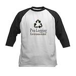 Pro-Logging Environmentalist Kids Baseball Jersey