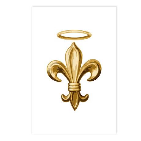 Gold Fleur de lis Talisman Postcards (Package of 8