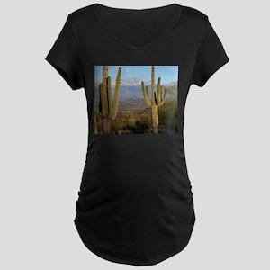 Desert Life Maternity Dark T-Shirt