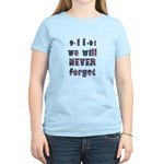 9-11 Never Forget Women's Light T-Shirt