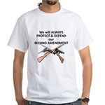 Protect & Defend theSecond Am White T-Shirt