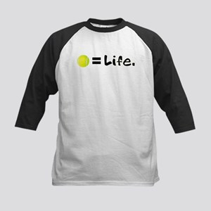 Tennis Ball = Life Kids Baseball Jersey