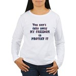 Protect My Freedom Women's Long Sleeve T-Shirt