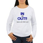 In or Out - Speak with Your V Women's Long Sleeve