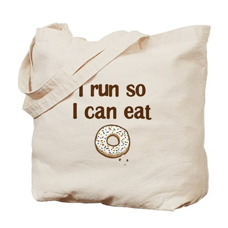 Run for Donuts Tote Bag