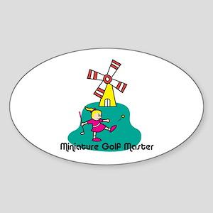 Miniature Golf Oval Sticker