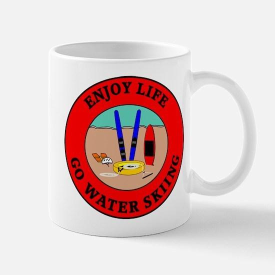 Enjoy Life Go Water Skiing Mug