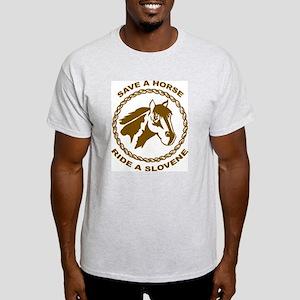 Ride A Slovene Ash Grey T-Shirt