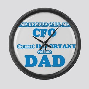 Some call me a Cfo, the most impo Large Wall Clock