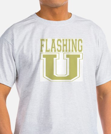 Flashing U Ash Grey T-Shirt