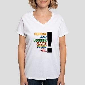 Interjections! Women's V-Neck T-Shirt
