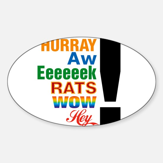 Interjections! Oval Decal