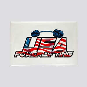 U.S. Powerlifting Rectangle Magnet