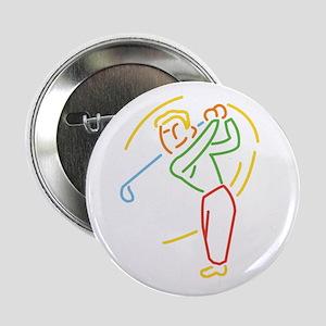 Golfer Design Button