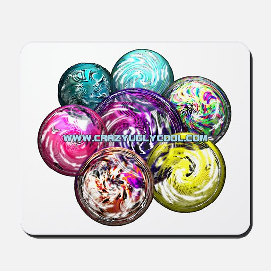 CrazyUglyCool Marbles Mousepad