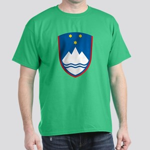 Slovenia Coat of Arms (Front) Dark T-Shirt