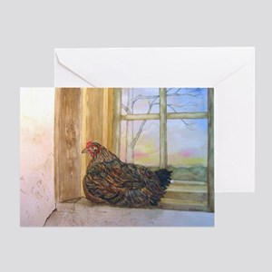 Sunset Roost Greeting Card