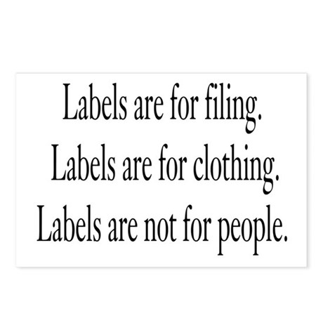 Labels Postcards (Package of 8)