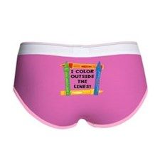 Color Outside The Lines Women's Boy Brief