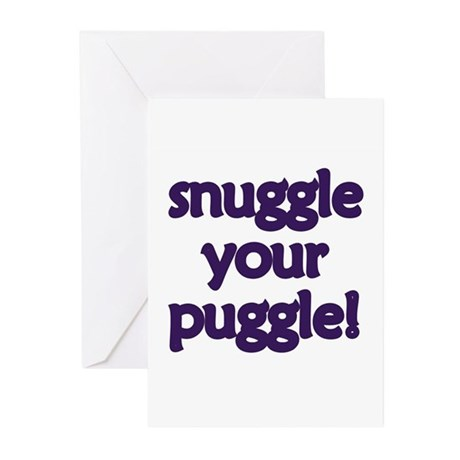 Snuggle Your Puggle Greeting Cards (Pk of 10)