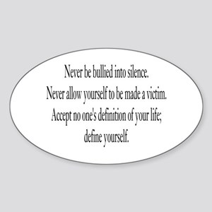Define Yourself Oval Sticker