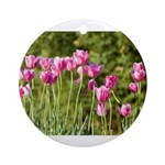 Pink Tulips Round Ornament