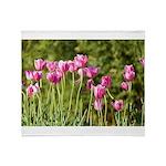 Pink Tulips Throw Blanket
