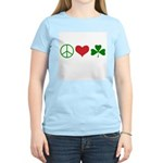 Signs of Peace Love Luck Women's Light T-Shirt