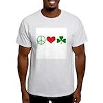 Signs of Peace Love Luck Light T-Shirt