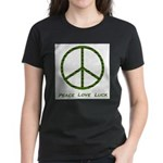 Peace Love Luck Women's Dark T-Shirt