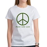 Peace Love Luck Women's T-Shirt