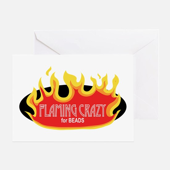 Flaming Crazy Greeting Card