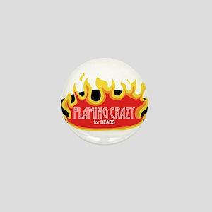 Flaming Crazy Mini Button