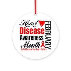 HeartDiseaseAwarenessMonth Ornament (Round)