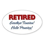 Retired: Goodbye Tension Hell Oval Sticker