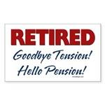 Retired: Goodbye Tension Hell Rectangle Sticker